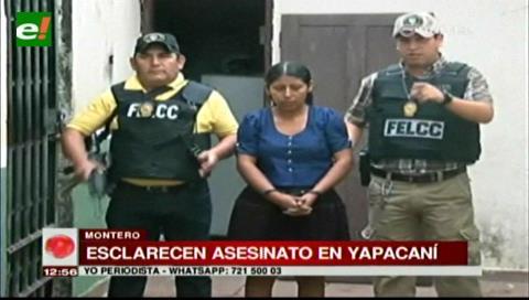 Felcc detiene a mujer acusada de asesinar a su esposo mototaxista en Yapacaní