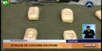 Potosí: La Felcn incautó 10 kilos de cocaína en Uyuni