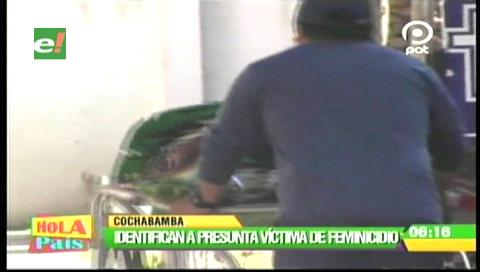 Cochabamba: Identifican a víctima de feminicidio