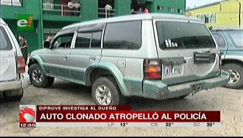 Vehículo que atropelló y mató a un policía tiene placa clonada