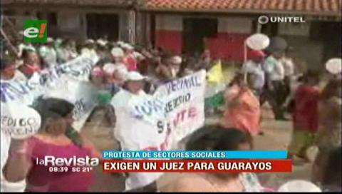 Población de Ascensión de Guarayos exige la designación de sus autoridades judiciales