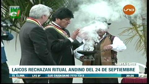 Católicos laicos rechazan ritual andino realizado por el Gobierno el 24 de septiembre