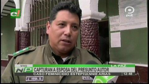 Caso Estephannie: Capturan a esposa del presunto autor de feminicidio