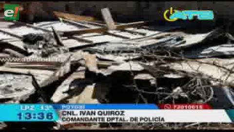 Detienen a 17 personas por incendiar una vivienda en Potosí