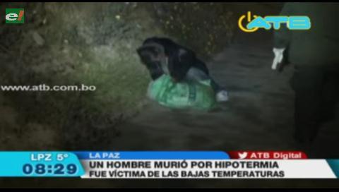 Un hombre de 60 años murió por hipotermia en La Paz