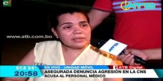 Paciente denuncia agresiones en la CNS de Santa Cruz
