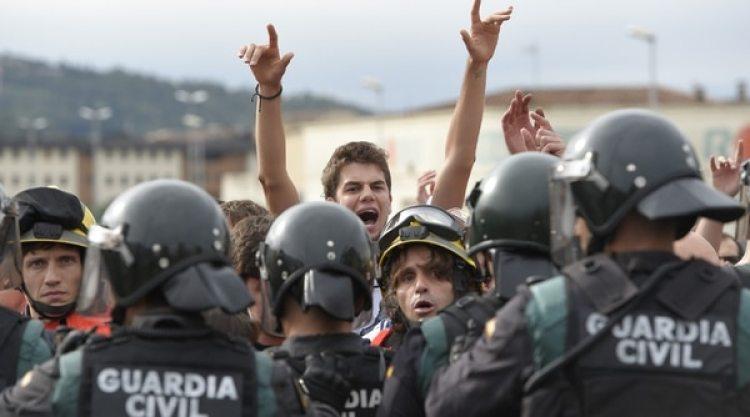 Manifestaciones en Cataluña (AFP PHOTO / LLUIS GENE)