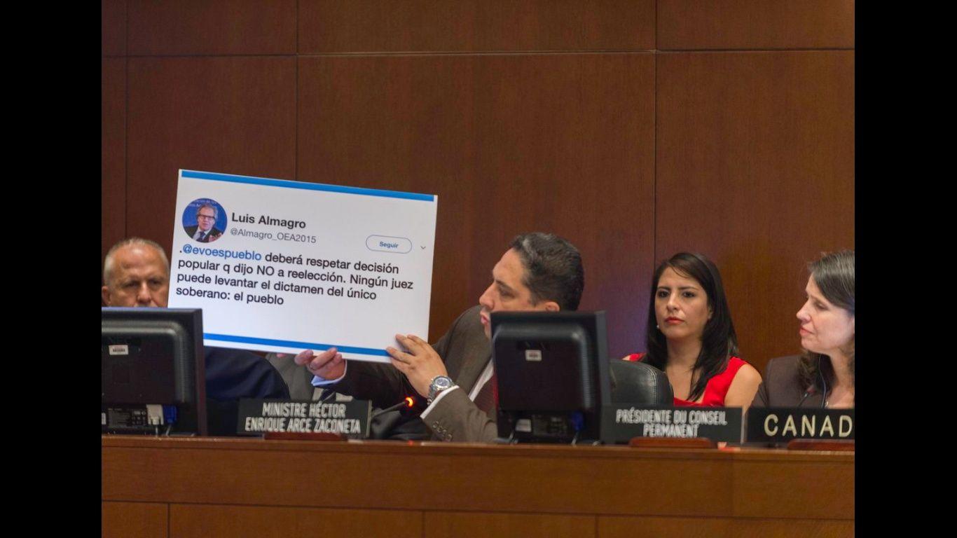 Gobierno va la OEA para explicar planteamiento de reelección indefinida