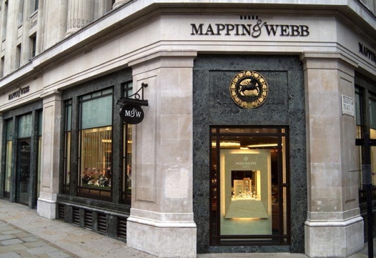 La joyería Mappin and Webb en Regent Street, en el centro de Londres