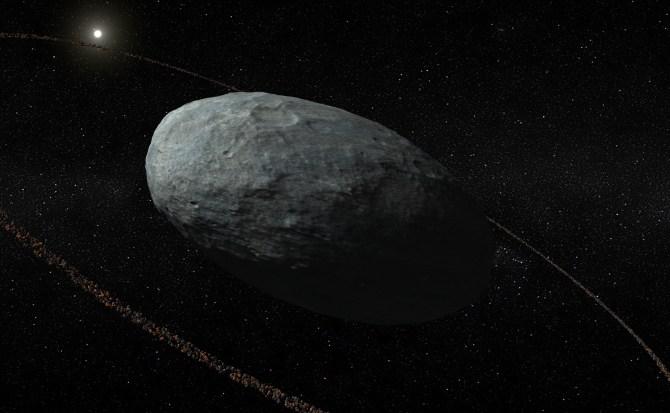 Descubren por primera vez un anillo alrededor de un planeta enano