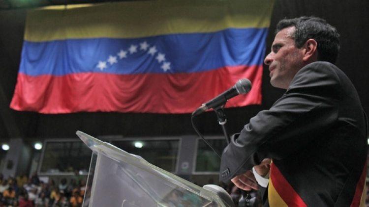 Henrique Capriles brindó un acto por el fin de su mandato (Pablo Villarreal)