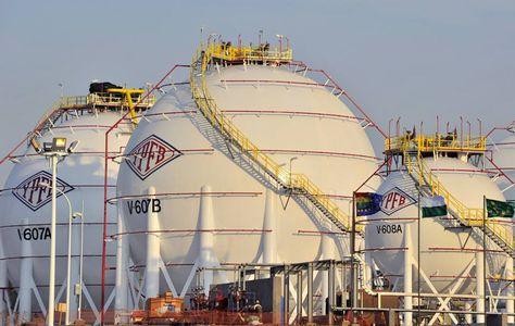 Una planta de gas en Bolivia.