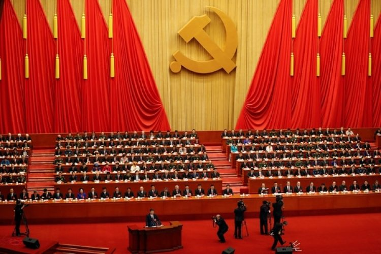El presidente chino Xi Jinpingdurante su discurso en el congreso del Partido Comunista Chino (REUTERS/Damir Sagolj)