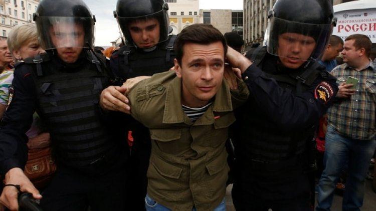 Cientos de detenidos en las manifestaciones anti Putin en Rusia a principios de octubre (Reuters)