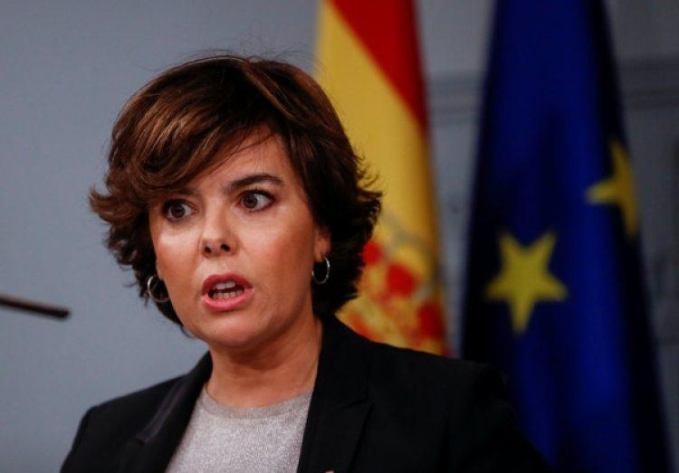 La vice presidenta del Gobierno español Soraya Saenz de Santamaria (Reuters)