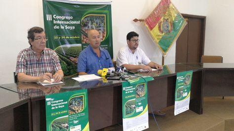 Conferencia de prensa de los ejecutivos de Anapo.