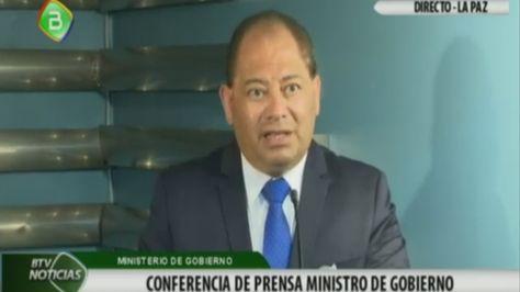 El ministro Romero en la conferencia de prensa de este jueves.