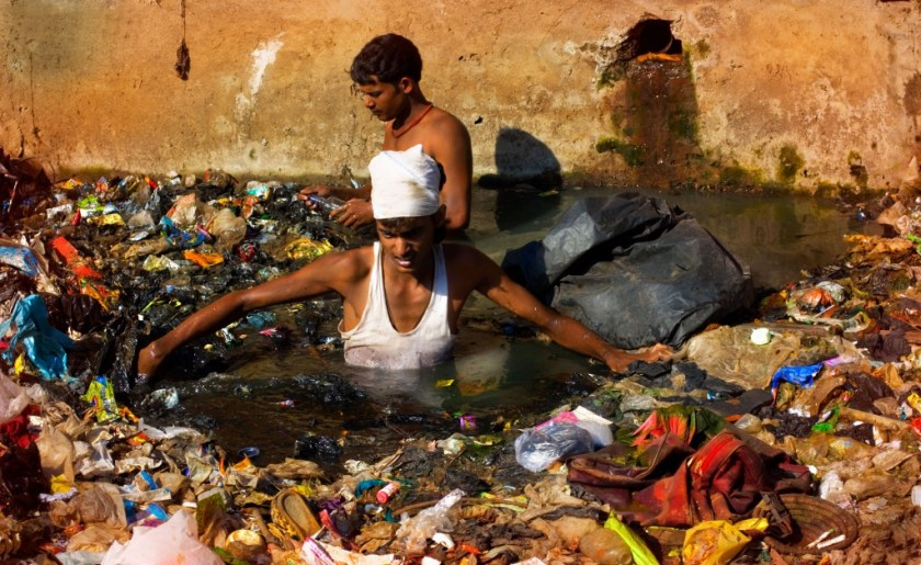 [UNVERIFIED CONTENT] The rag-pickers of Mumbai collect tons of garbage each day, but they are not recognized by the city as a workforce.This river is treated like an open drain by the citizens who discharge raw sewage, industrial waste and garbage unchecked.