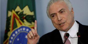 El presidente de Brasil dio de baja a 8 ministros para que vuelvan al Congreso y voten contra una acusación de la Fiscalía