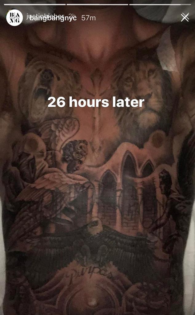 Justin Bieber, Tattoo, Chest, Bang Bang