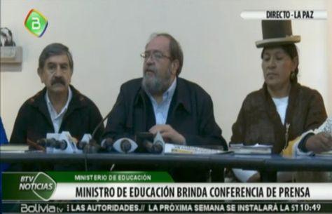 El ministro Aguilar en conferencia de prensa sobre la repostulación y la Constituyente.