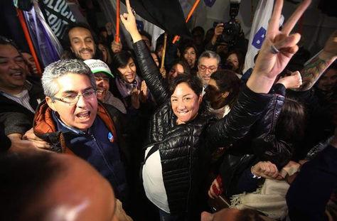 La candidata izquierdista a la presidencia de Chile Beatriz Sánchez