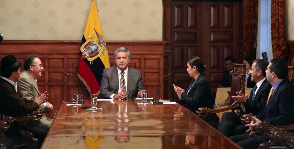 El presidente de Ecuador, Lenín Moreno, en Quito, el pasado lunes.