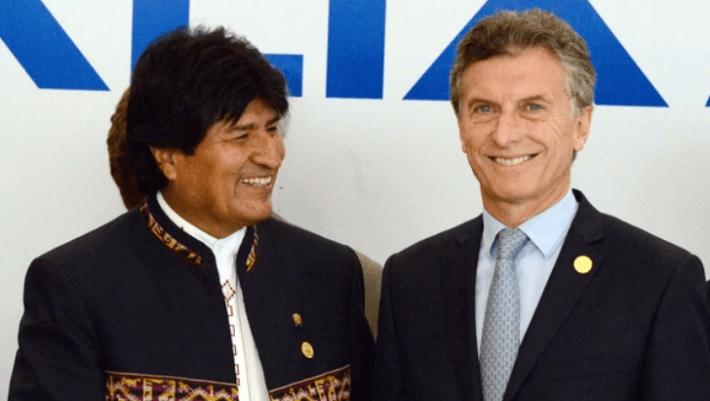 Los presidentes de Argentina y Bolivia, Mauricio Macri y Evo Morales (NA)