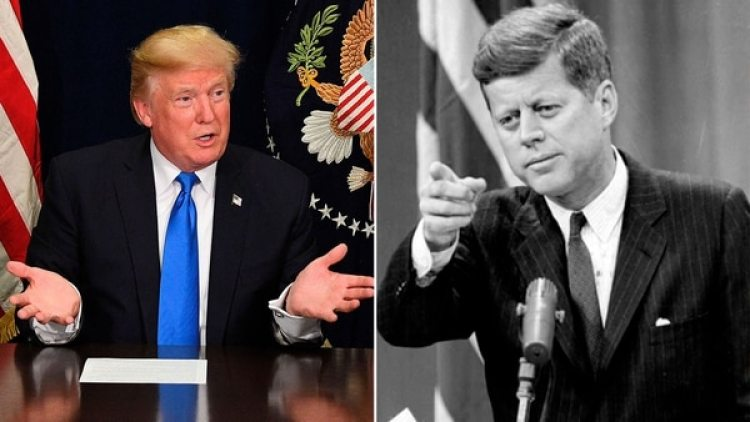 Donald Trump y John F. Kennedy (AFP)