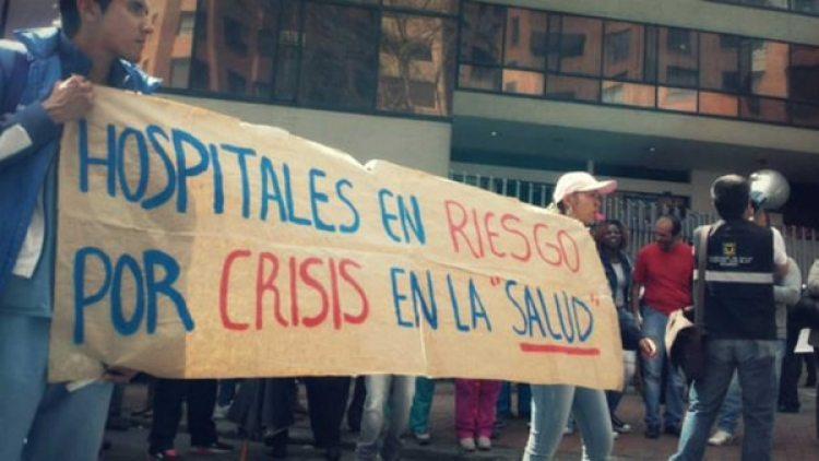 Una protesta en un hospital venezolano por la falta de insumos