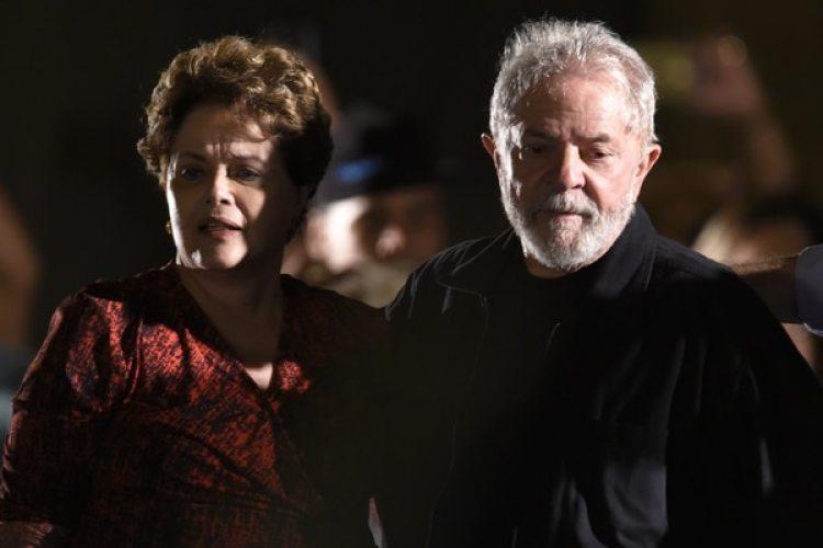 Luiz Inacio Lula da Silva y la ex presidente Dilma Rousseff (AFP PHOTO / DOUGLAS MAGNO)
