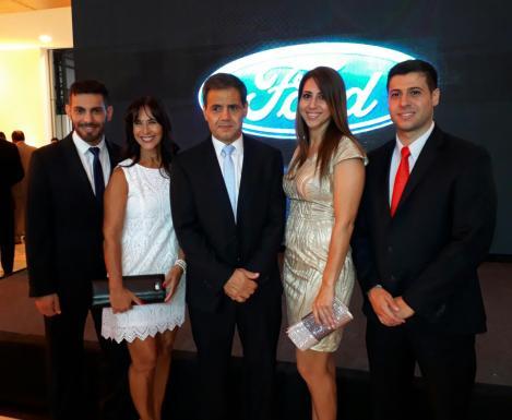 Claudio Jacir, Blanca Vaca Diez, Christian Jacir, Arianne Jacir y Christian Jacir Jr.