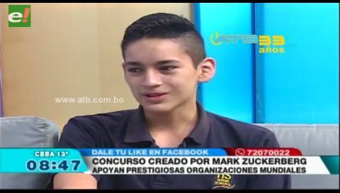 Apoya a estudiante boliviano semifinalista de concurso mundial de ciencias