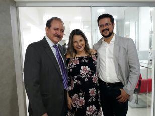 Oswaldo Ribera, Jorge Añez y Sra.