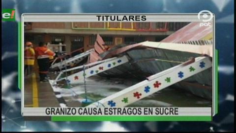 Video titulares de noticias de TV – Bolivia, noche del jueves 12 de octubre de 2017