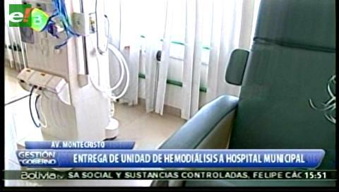 Evo entrega Unidad de Hemodiálisis en el hospital 'Pampa de la Isla' en Santa Cruz
