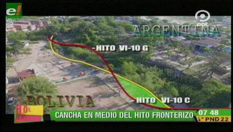 San José de Pocitos: Inauguran cancha de fútbol pero las tribunas quedaron del lado argentino
