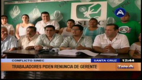 Denuncian corrupción: Afiliados del Sinec anuncian huelga