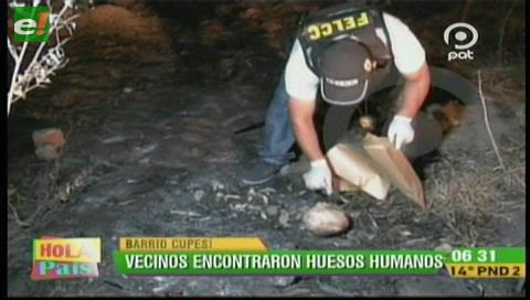 Vecinos del barrio Cupesí hallan restos óseos en un lote, la Policía investiga