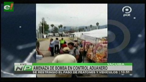Yacuiba: Ordenan cierre de frontera por amenaza de bomba
