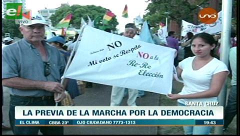 Santa Cruz: La previa de la marcha por la democracia