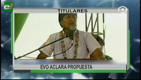 Video titulares de noticias de TV – Bolivia, noche del martes 10 de octubre de 2017