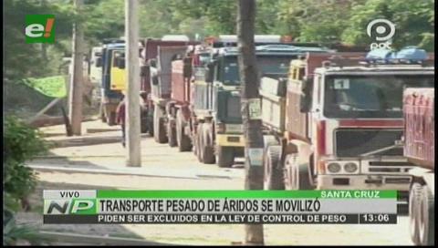 Transporte de áridos se moviliza en contra de ley