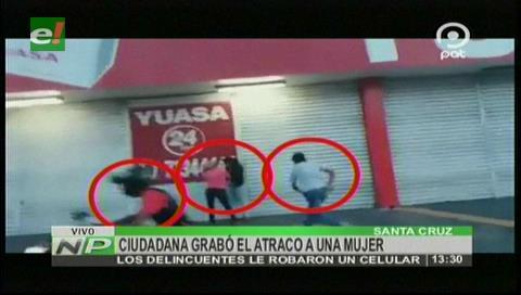 Santa Cruz: Ciudadana grabó el atraco a una mujer