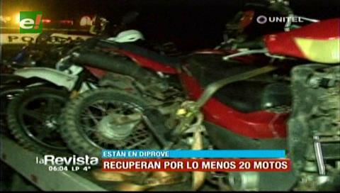 Diprove recupera 20 motocicletas de una vivienda, no cuentan con documentación