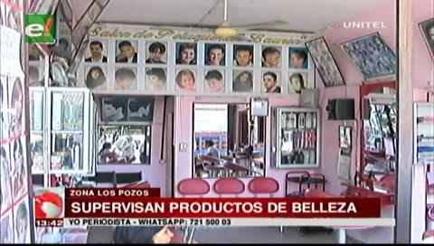 Controlan productos que se utilizan en los salones de belleza de Los Pozos