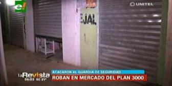Delincuentes golpean a guardia para poder robar en el mercado 27 de mayo