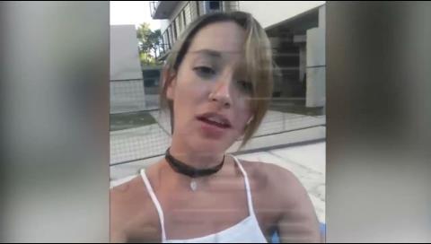 """Aparecen nuevos videos de Luciana, la amante del """"ladrón"""" del Banco Unión"""