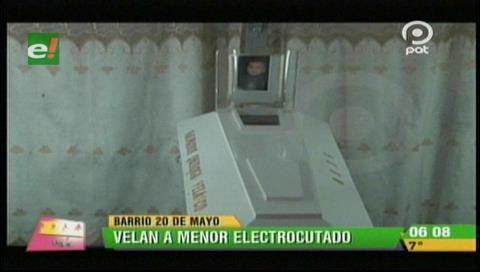 Familiares velan a menor electrocutado en un carrito eléctrico