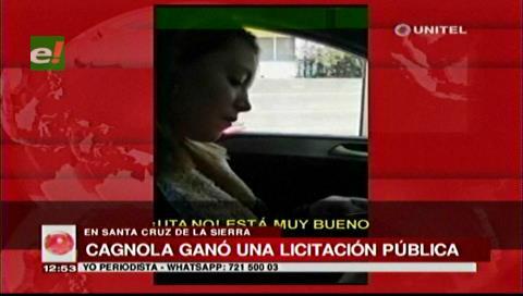 Licitación: Municipio cruceño asegura que no le pagó Luciana Regina Cagnola